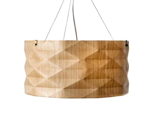 Folded Lamp Marrón