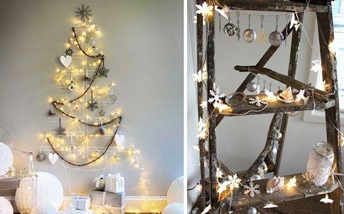Hileras de luces navideñas