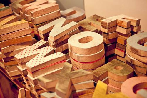 Letras madera Nomada Market