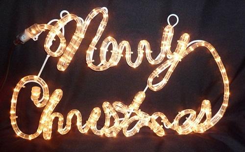 Mensajes navideños lumínicos