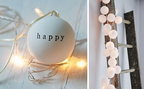 Tiras luces navideñas con mensaje