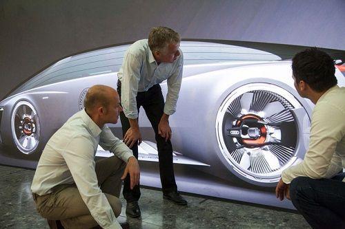 Coche de ciencia ficción de Audi 03