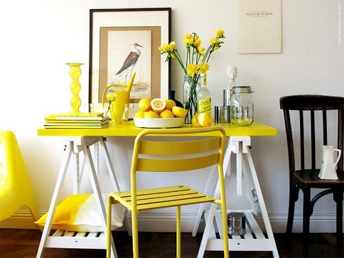 Decoración con amarillo 09