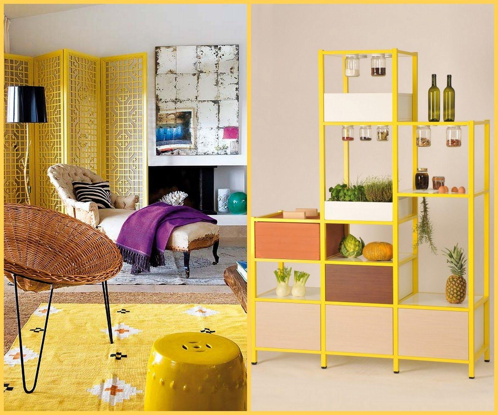 Decoración con amarillo, un toque alegre para el hogar