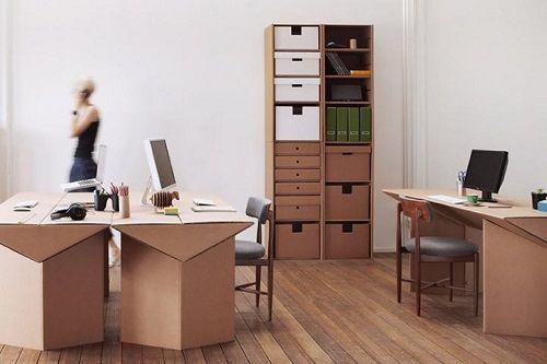 Muebles fabricados con cartón 02