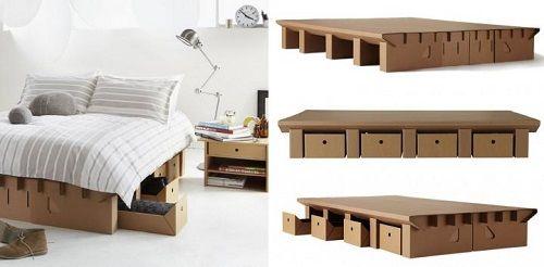 Muebles fabricados con cartón 03