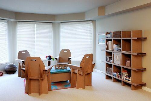 Muebles fabricados con cartón 04