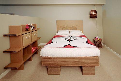 Muebles fabricados con cartón 05