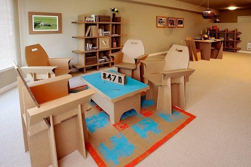 Muebles fabricados con cartón 06