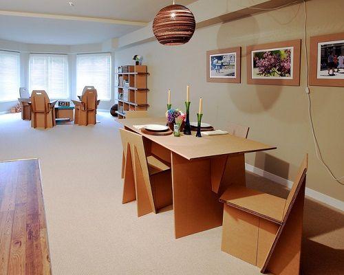 Muebles fabricados con cartón 07