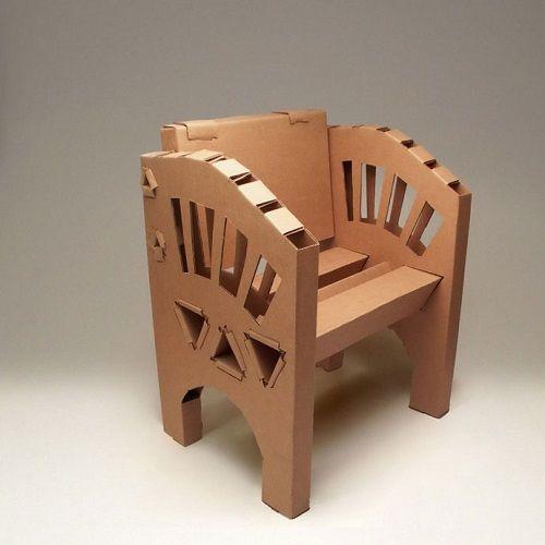 Muebles fabricados con cartón 09