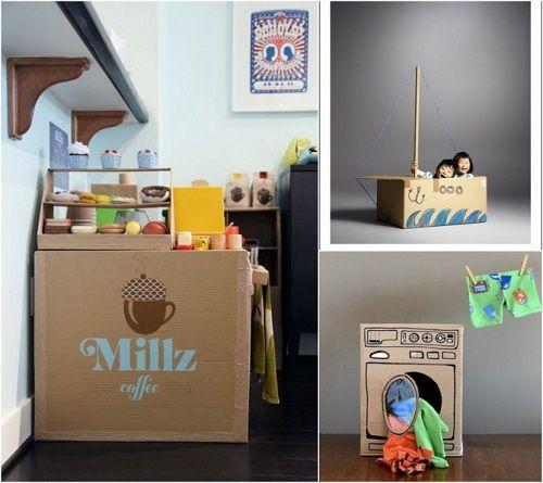 Muebles fabricados con cartón 10
