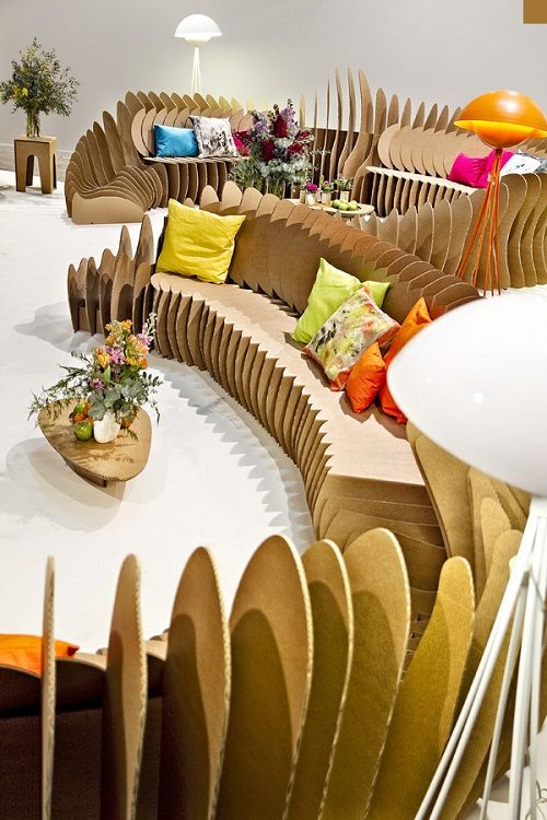 Muebles fabricados con cartón 14