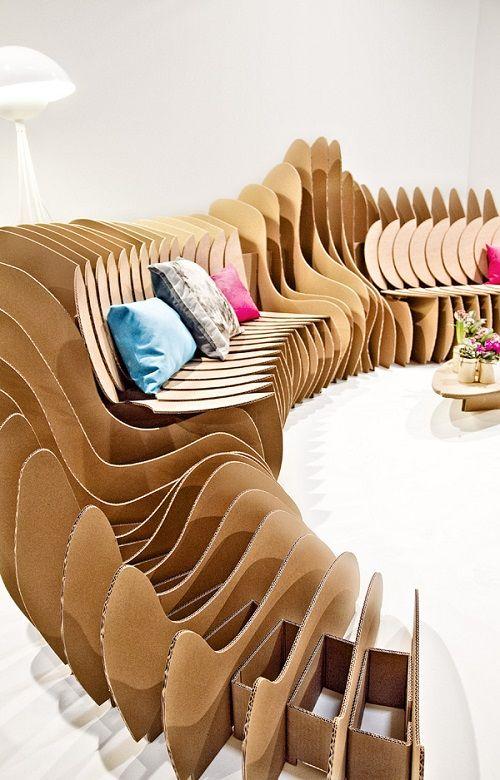 Muebles fabricados con cartón 16