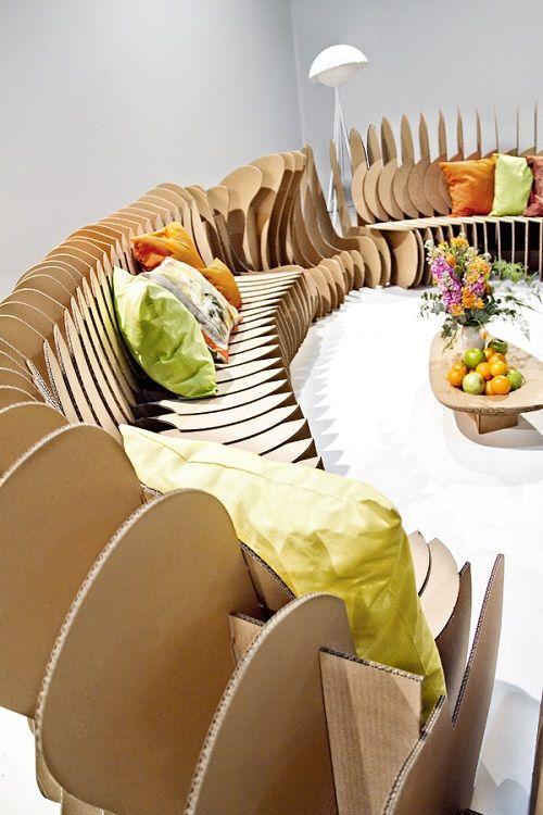 Muebles fabricados con cartón 17