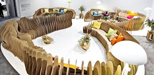 Muebles fabricados con cartón 18