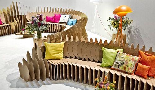 Muebles fabricados con cartón 19