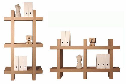 Muebles fabricados con cartón 21