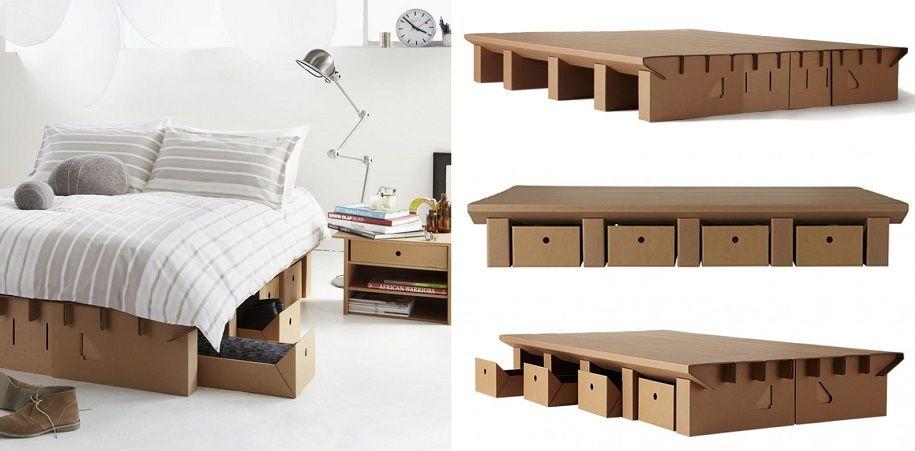 El alza sostenible de los muebles de cartón