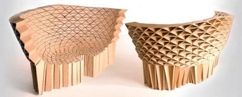 Muebles fabricados con cartón