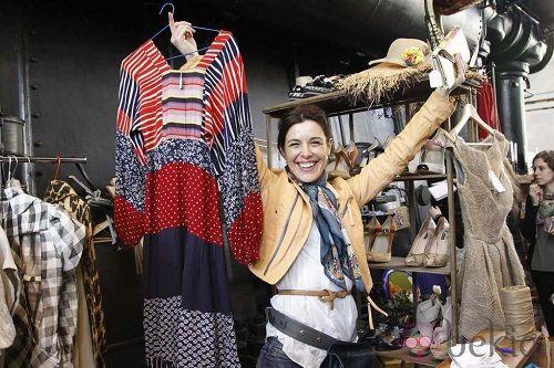 Raquel Sánchez Silva en el Mercado de Motores de Madrid