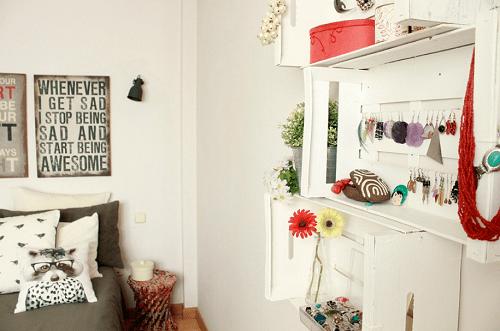 Decoración con cajas de fruta 18