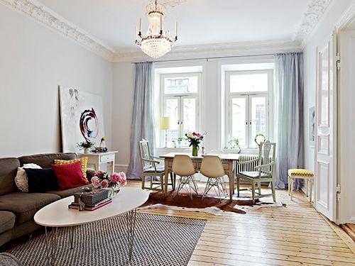 salon con alfombras