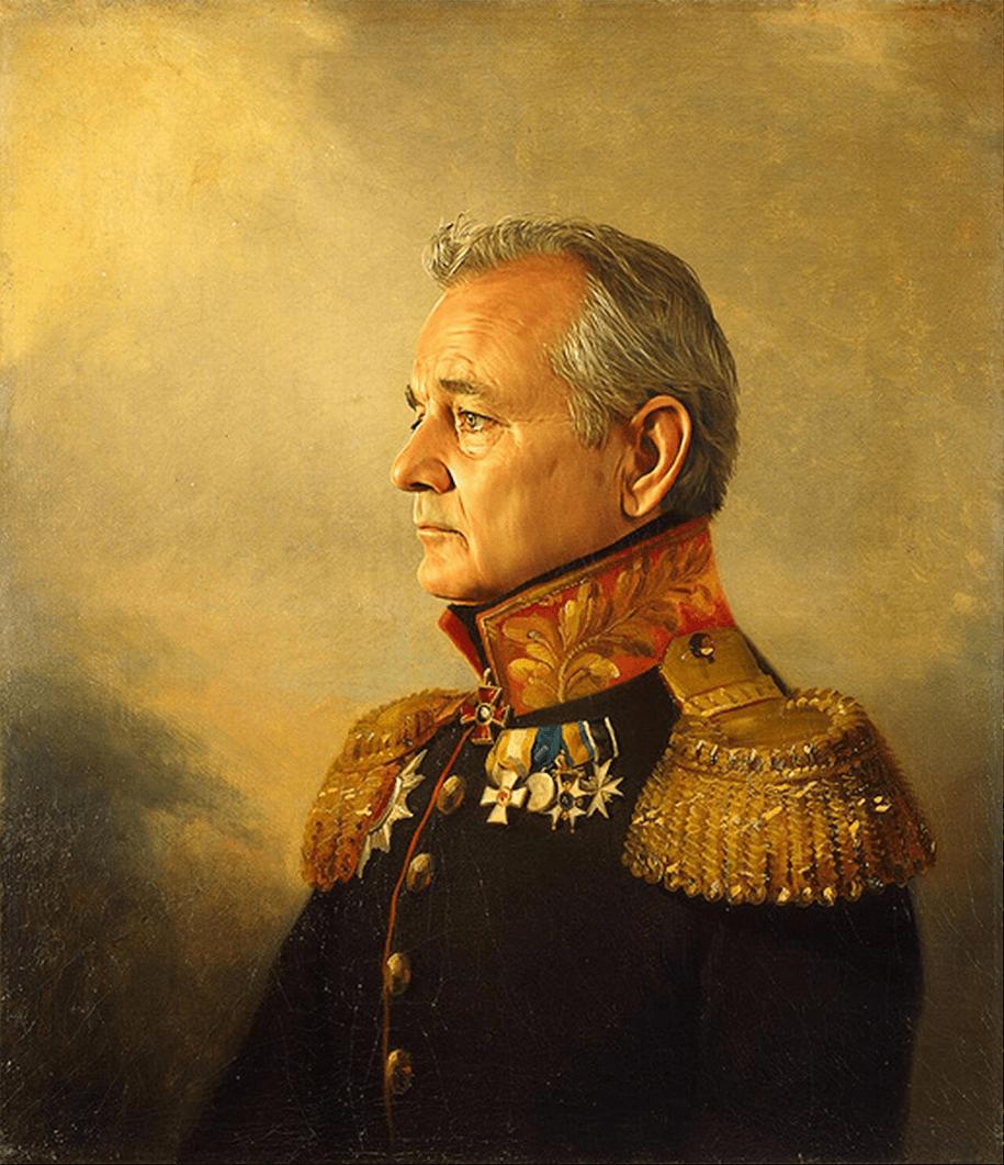 Replaceface: retratos de celebridades al estilo neoclásico