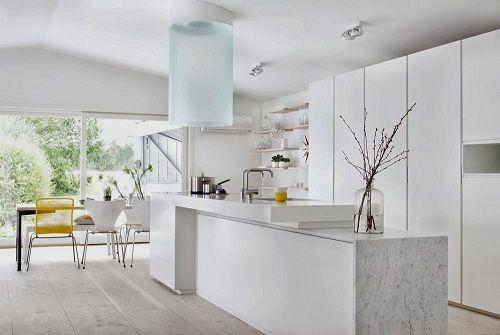Cocina de diseño escandinavo minimalista