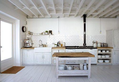 Cocina rústica nórdica