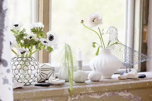 Decoración con flores blancas