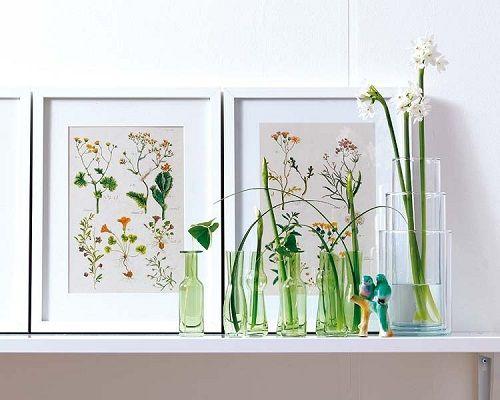 Decoración con motivos florales