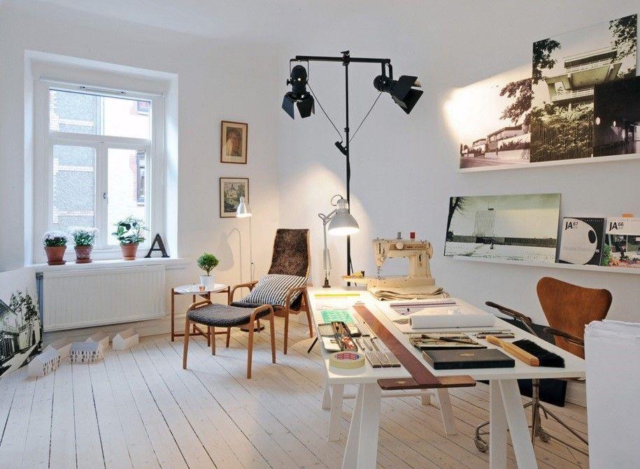 Inspiradores estudios escandinavos ¡La oficina en casa!