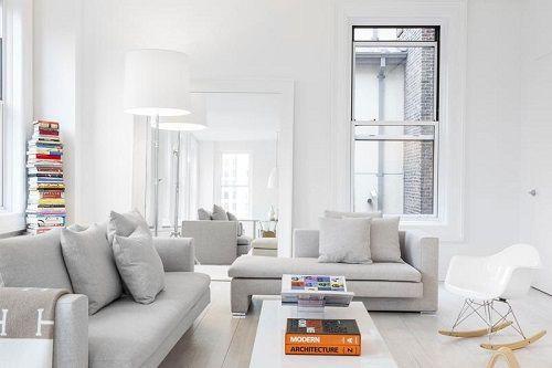 Apartamento blanco en manhattan