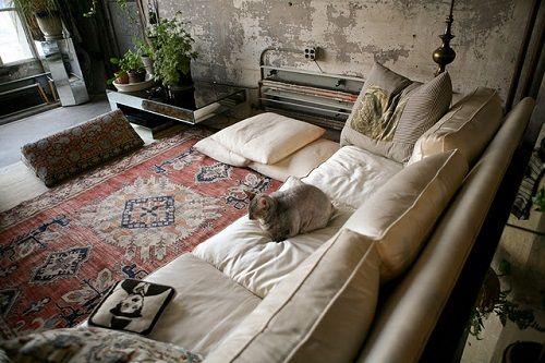 Apartamento de Brooklyn estética industrial vintage