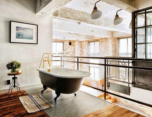 Apartamento en Brooklyn estética industrial