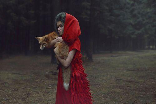 Caperucita roja con el zorro