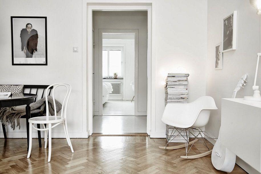 Apartamento nórdico black&white localizado en Suecia