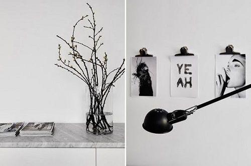 Detalles decorativos del salón