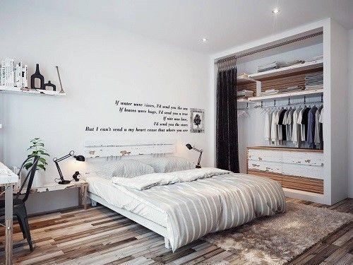 Dormitorio amplio y de estética limpia