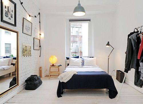Dormitorio de estilo neoyorquino