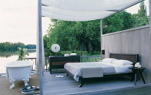 Dormitorio exterior con vistas
