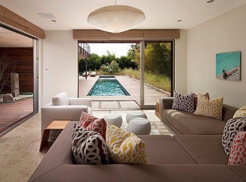 Interior de diseño en una vivienda eco