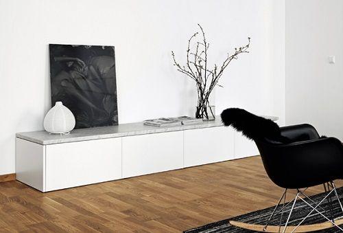 Piezas de diseño de un salón nórdico