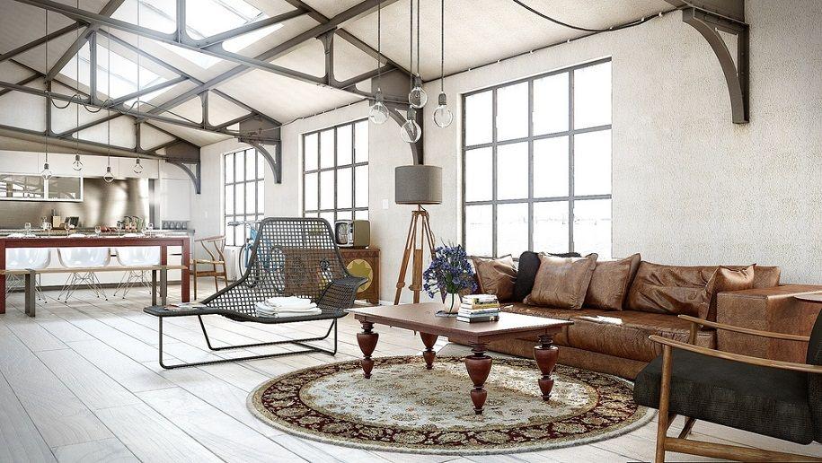 Hogares con decoración industrial vintage
