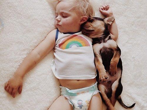 Theo y Beau pequeños