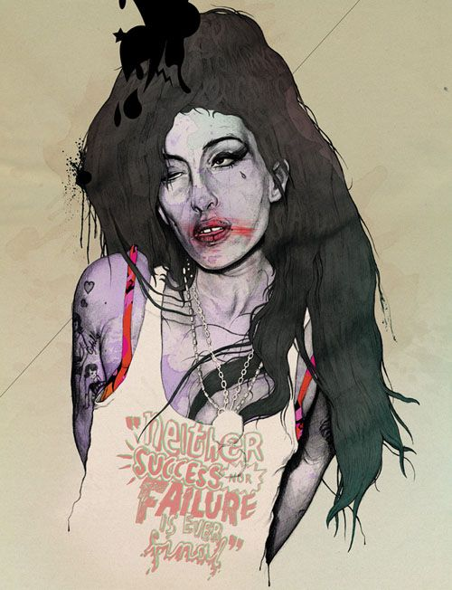 amy winehouse ilustracion gabz