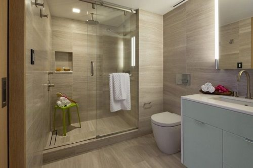 Baño apartamento neoyorquino