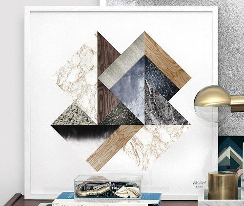 Cuadros con motivos geométricos