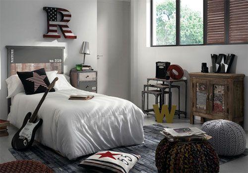 Dormitorio industrial Vintage Erutna en Portobellostreet